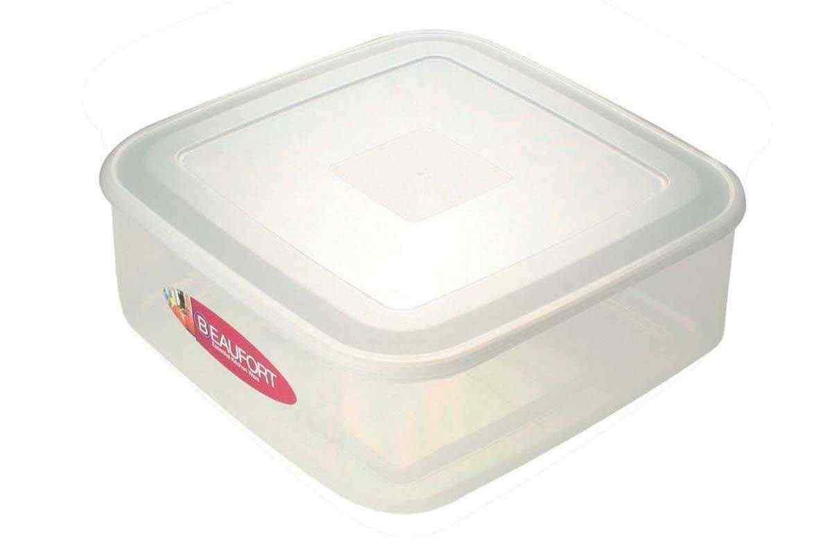 Beaufort 7lt Shallow Square Plastic Cake Food Storage Box