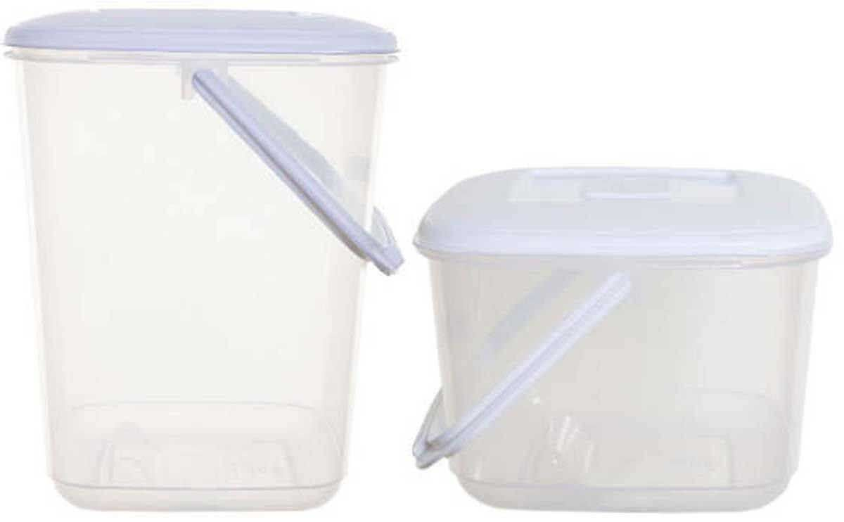 Whitefurze 10lt Or 6lt Plastic Kitchen Food Storage Box Container With Handle Amp Lid