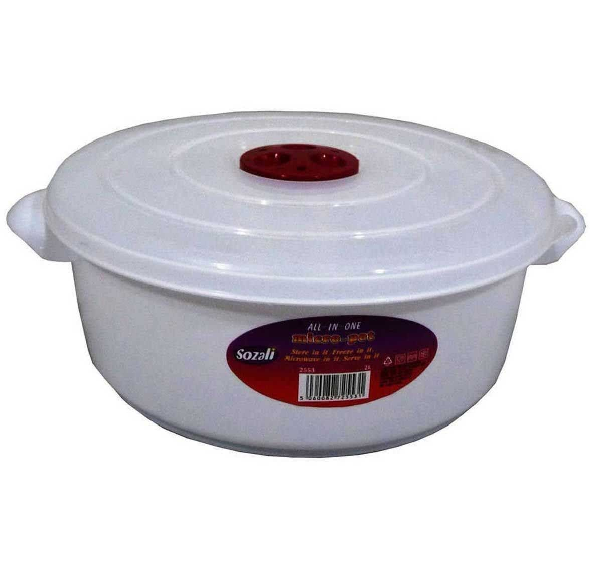 Microwave Pot Tub With Ventilated Lid Heating Food Cooking