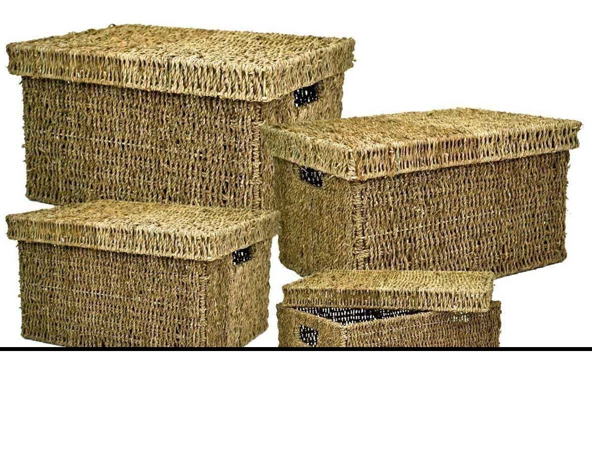 East2eden Rectangular Lidded Seagrass Box Gift Hamper