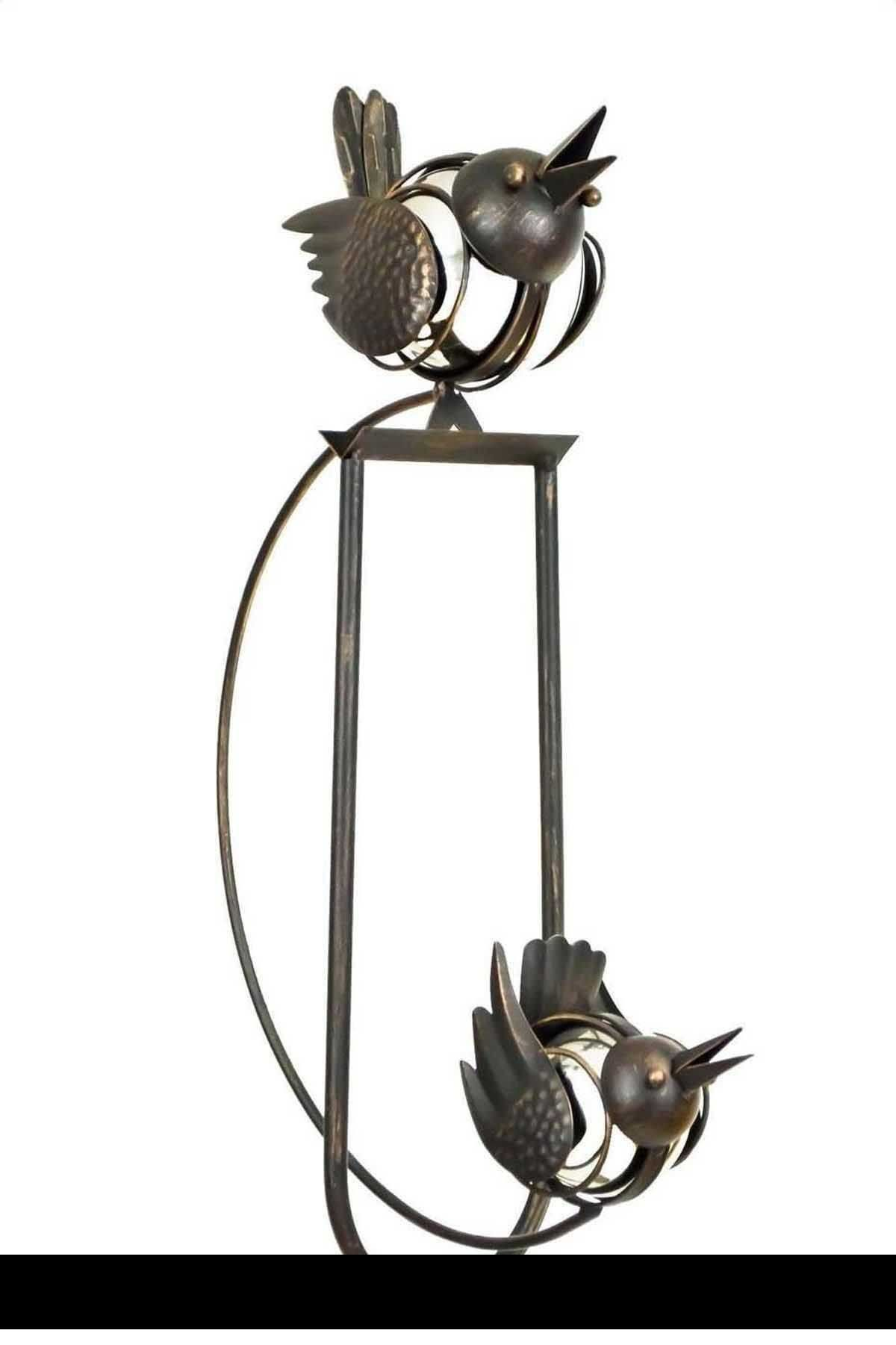 Set Of 2 Rocking Balancing Big Love Birds Metal Garden