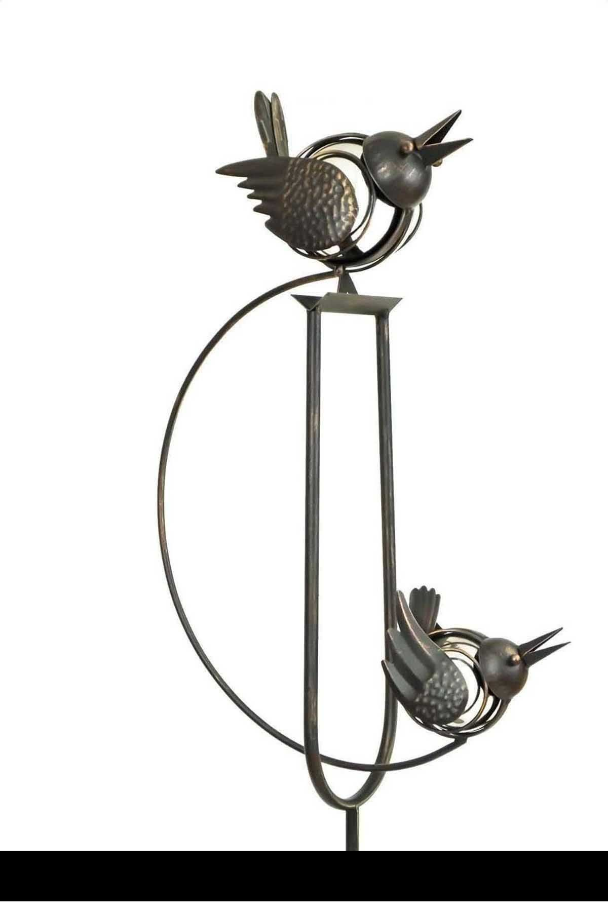 Rocking Balancing Big Love Birds Metal Garden Wind Spinner