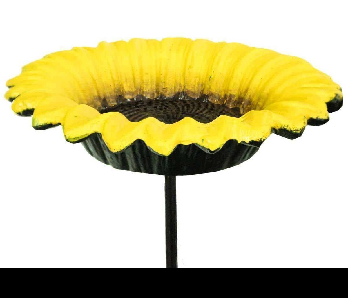 Cast Iron Red Poppy Daffodil Or Sunflower Garden Ornament