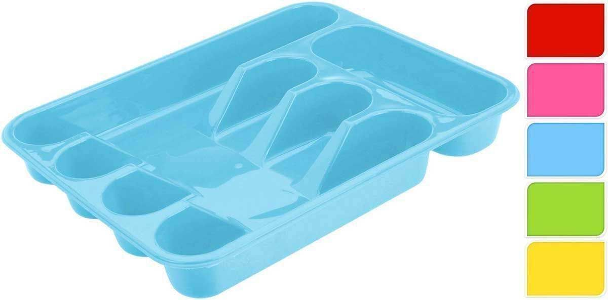 5 Compartment Plastic Cutlery Holder Tray Drawer Rack Caddy Choice ...