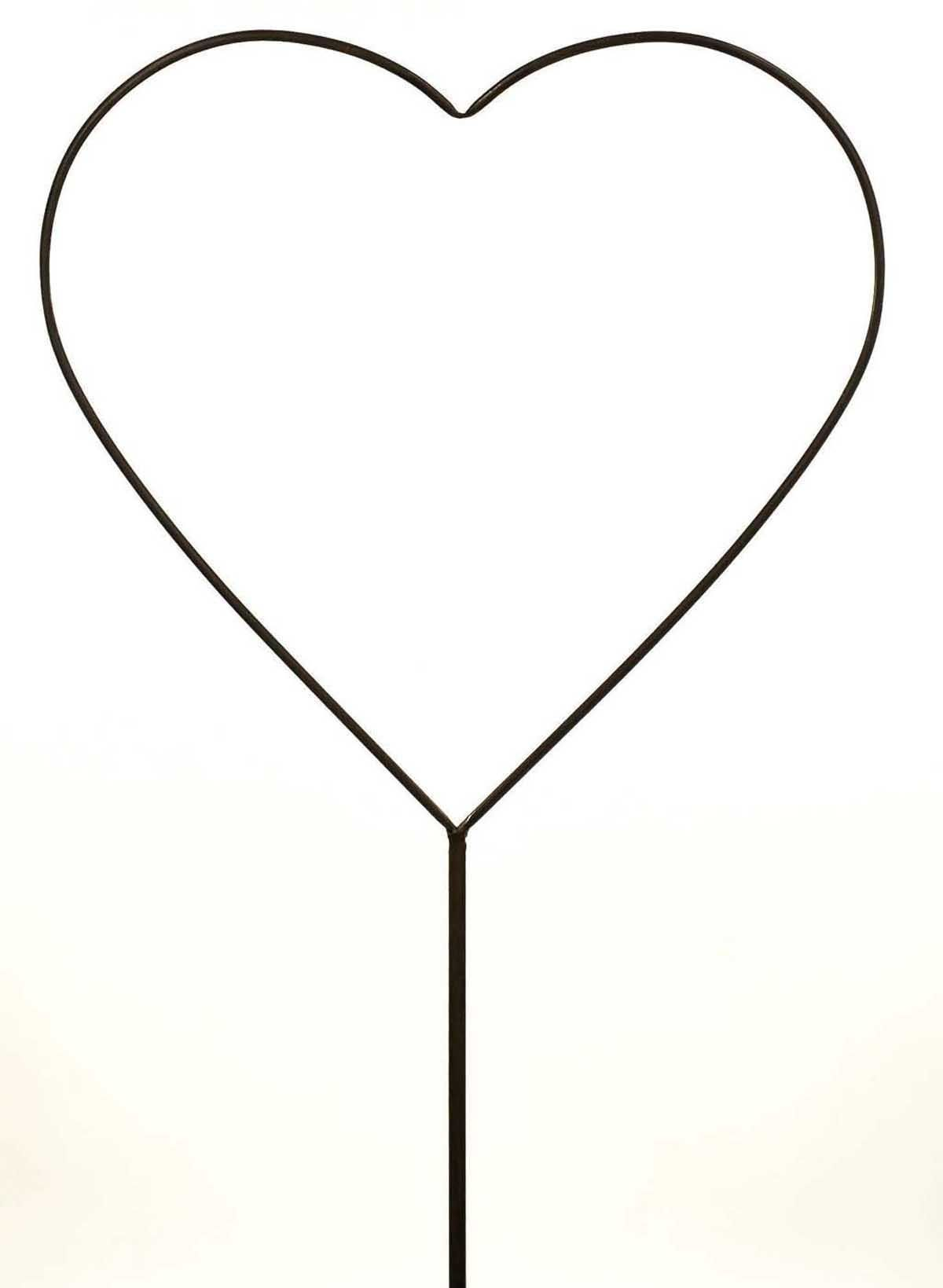 Metal Large Heart Shaped Garden Flower Bed Spike Ornament Stake