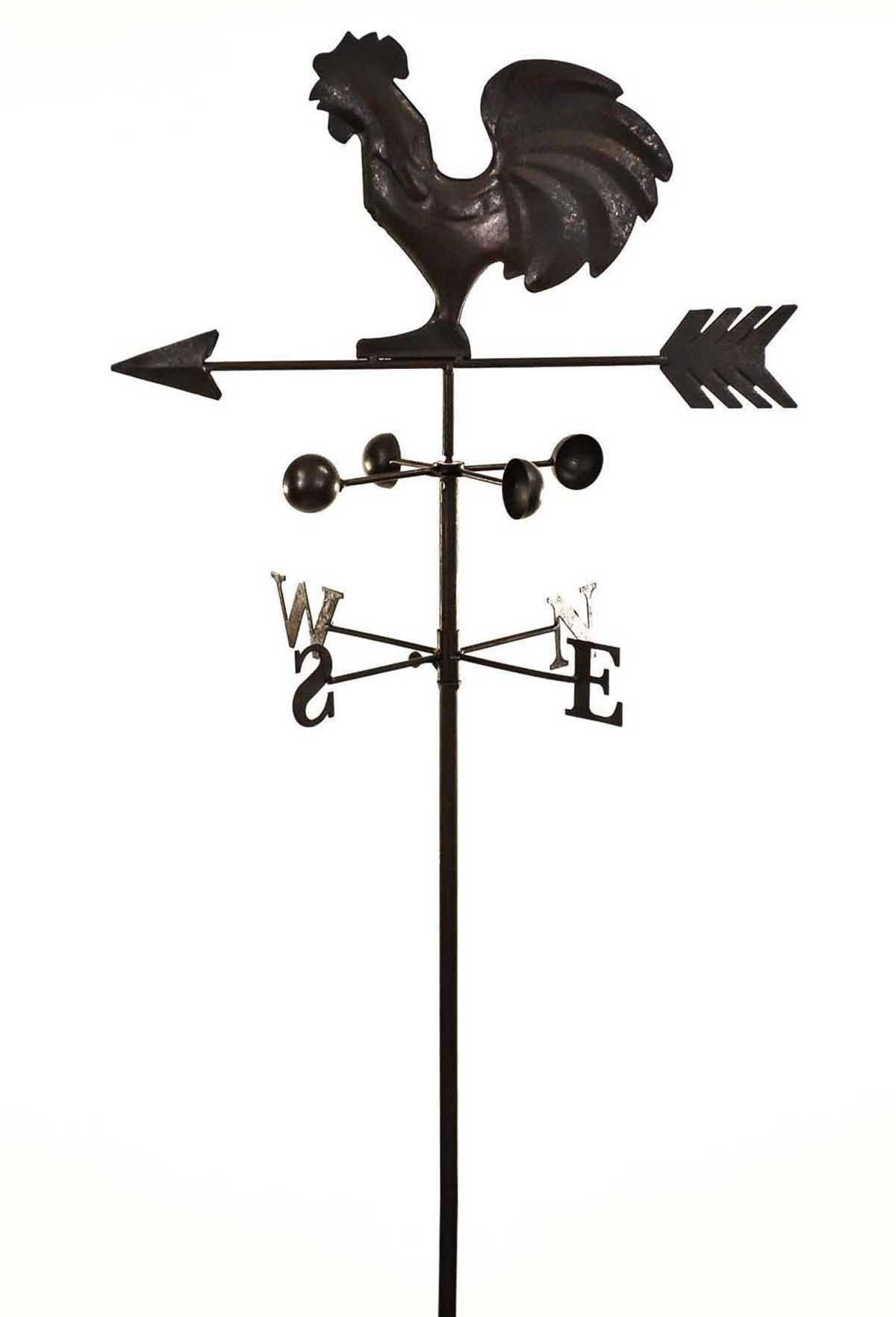 Dark Metal Cockerel Wind Weathervane Weather Vane Garden