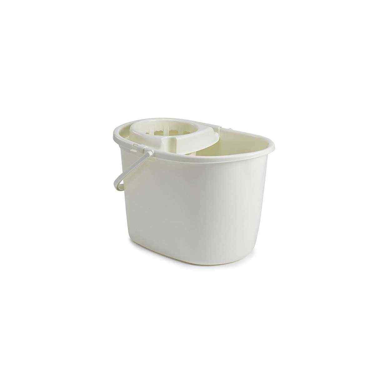 Whitefurze 15lt Durable Plastic Mop Floor Cleaning Bucket