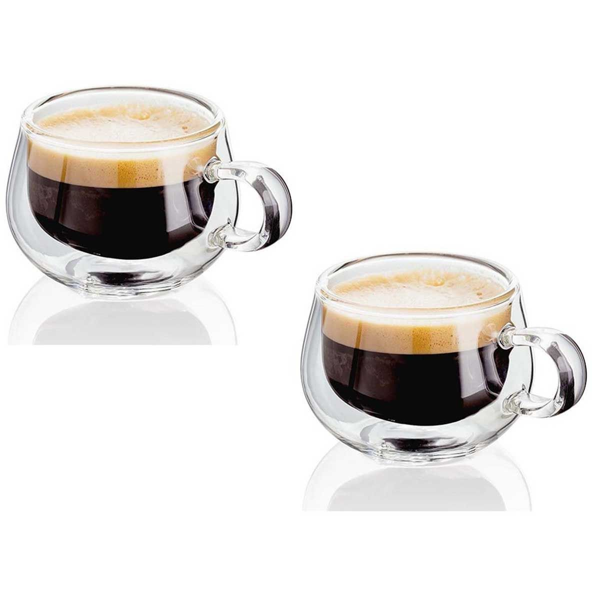 Judge Hand Crafted Double Walled Set of 2 75ml Glass ...