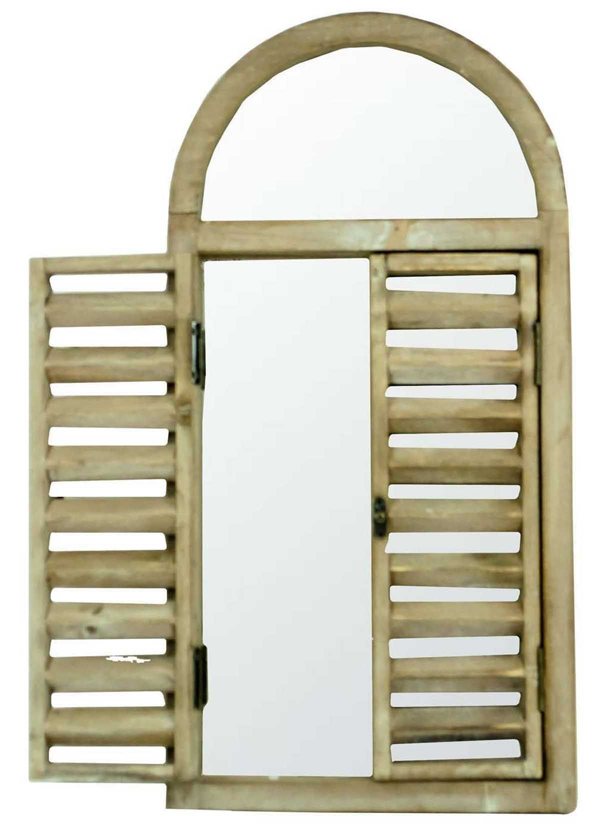 Arched Wooden Garden Shabby Chic Vintage Wall Mirror With