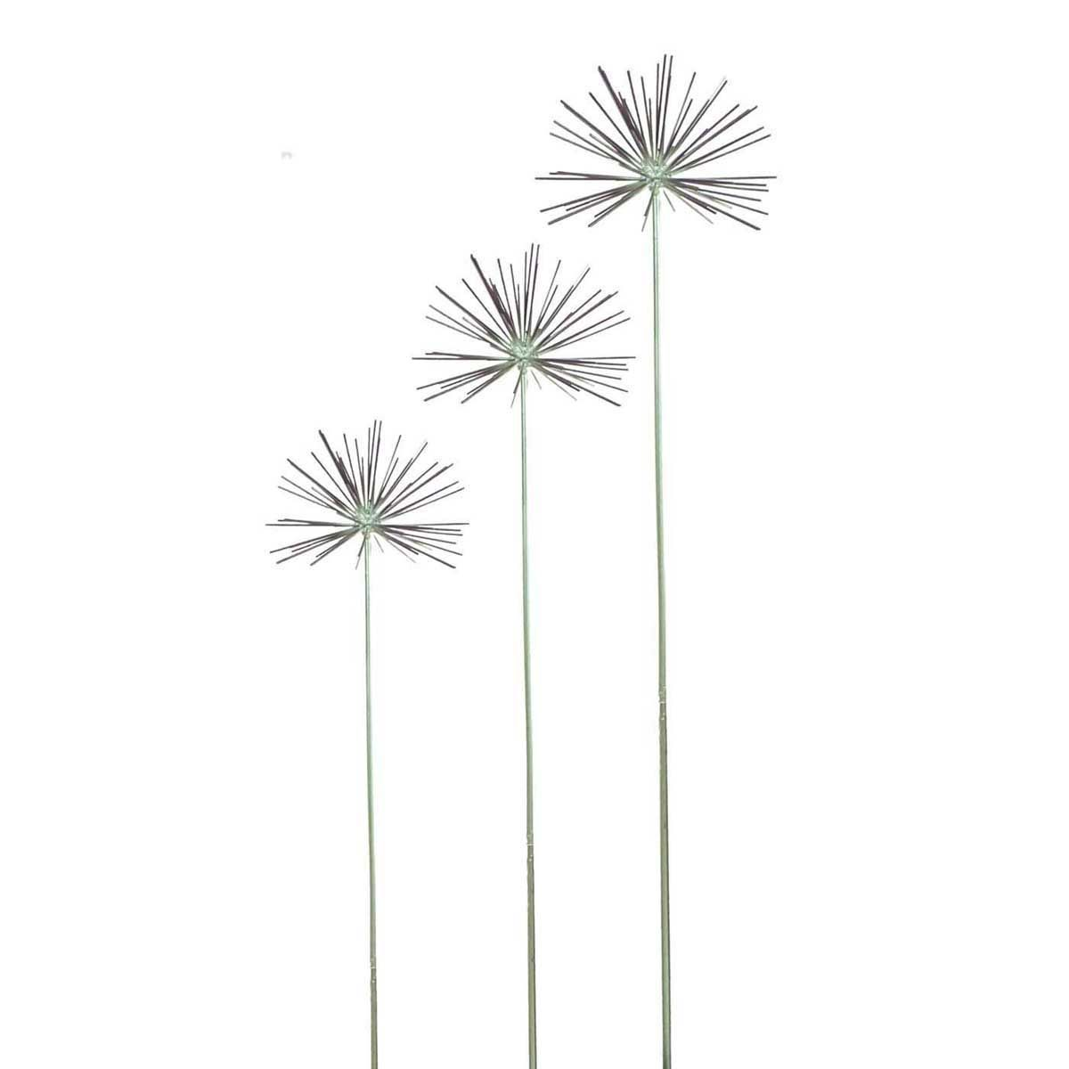 Metal allium flower garden ornament decoration decor for Flower garden ornaments