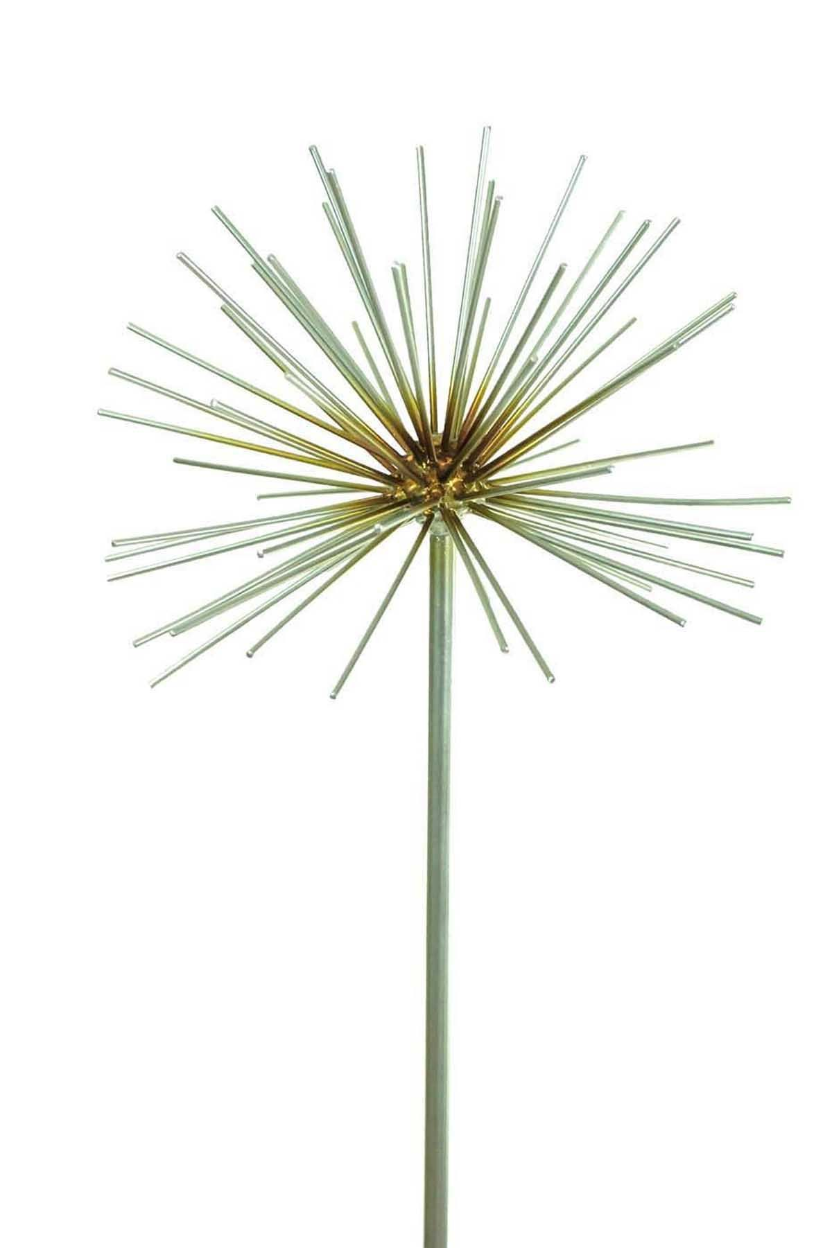 Metal Allium Flower Garden Ornament Decoration Decor