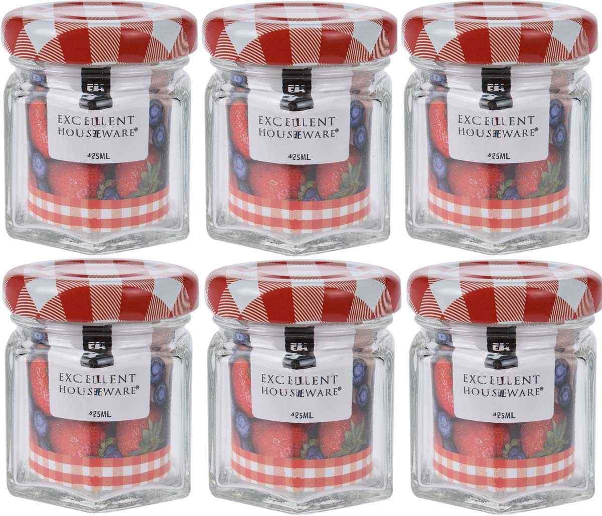 Set of Glass 45ml Spice Herb Jam Preserve Glass Storage ...