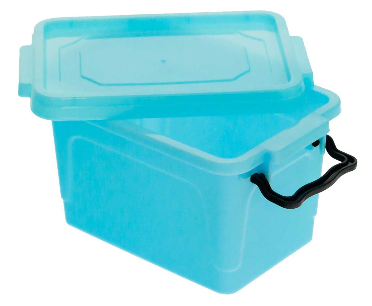 MaxxPro Set of 6 Plastic Clip-Top Kitchen Office Storage Box